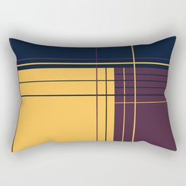 Abstract graphic I Dark blue Purple Yellow Rectangular Pillow