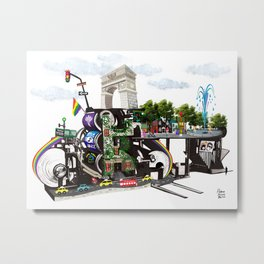 New York Machinery Landscape - Greenwich Village Metal Print