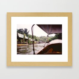 River Kwai Village - Thailand Framed Art Print