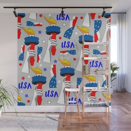 July 4th Repeat Pattern Wall Mural