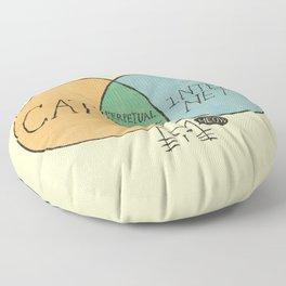 Perpetual procrastination Floor Pillow