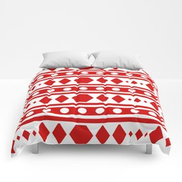 Tribal Red Pattern Comforters