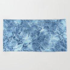 Frozen Leaves 8 Beach Towel