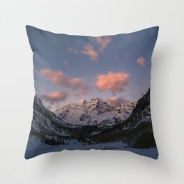 Sunrise over the Maroon Bells Throw Pillow