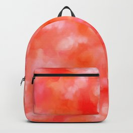 Coral in the Clouds - Abstract Marble Backpack