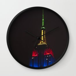 Empire State At Night Wall Clock