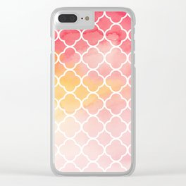 Oriental pattern Clear iPhone Case