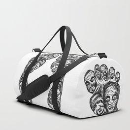 Face foot linoleum press Duffle Bag