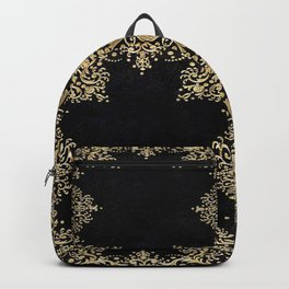 Black and Gold Filigree Backpack