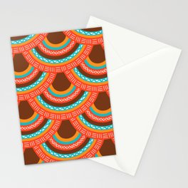 Modern colorful African Mandalas scales Stationery Cards