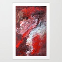 acrylic abstract on 63x94 cm canvas Art Print