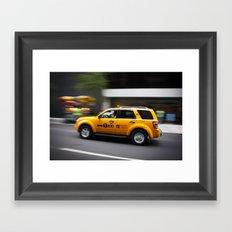 Follow that car Framed Art Print