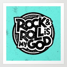 Rock & Roll God Art Print