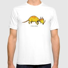 Styracosaurus White Mens Fitted Tee MEDIUM