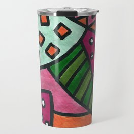 Funky Leaves Travel Mug