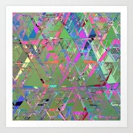 Mirror City Colorful Art Print