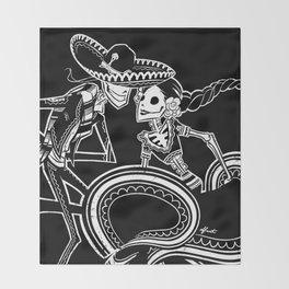 ZAPATEADO ON BLACK Throw Blanket