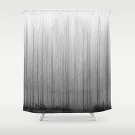 """Rectilineorum"". Bw Shower Curtain"