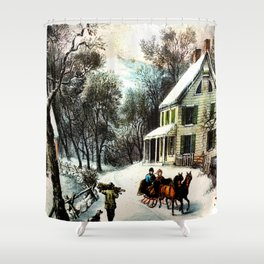 Winter In Old Virginia  Shower Curtain