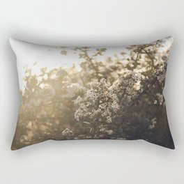 late night conversations with the moon Rectangular Pillow