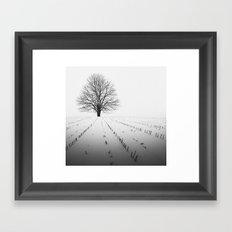 Spade of Winter Framed Art Print