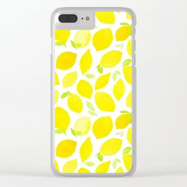 Beautiful Lemon Pattern Clear iPhone Case