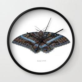 Black Witch Moth Wall Clock