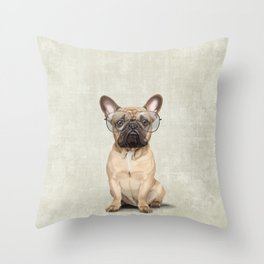 Mr French Bulldog Throw Pillow