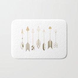 Be Brave Little Arrow (gold) Bath Mat