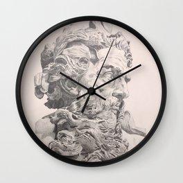 Bust of Neptune Drawing Lambert-Sigisbert Wall Clock