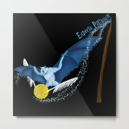 Expecto Patronum Bat Metal Print
