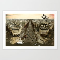 lobster in paris Art Print