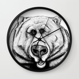 A big, cuddly, grizzly bear! Wall Clock