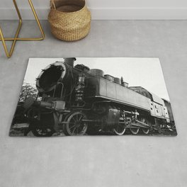 old steam locomotive Rug