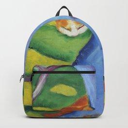 """Franz Marc """"Children's Picture: Cat behind a Tree (Kinderbild: Katze hinter einem Baum)"""" Backpack"""