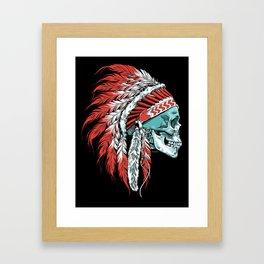 Skull Chief Framed Art Print