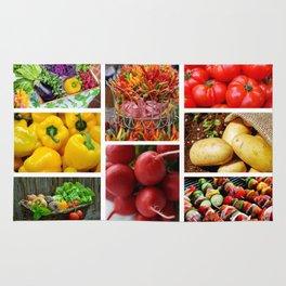 Garden Fresh Vegetables - Kitchen Decor Rug