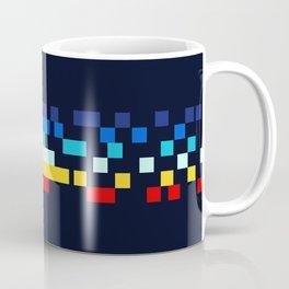 Classic 80s Video Game Retro Stripes Pixel Drops - Ayakazu Coffee Mug
