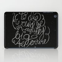 peter pan iPad Cases featuring Peter Pan Quote by Megan Oliveri Designs