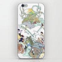 ghibli iPhone & iPod Skins featuring Ghibli by Alba Palacio