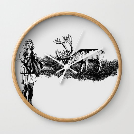caribou Wall Clock