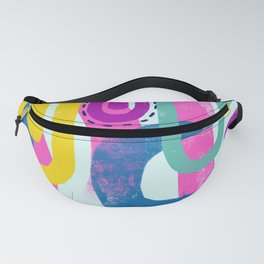 Fun bright abstract art Fanny Pack