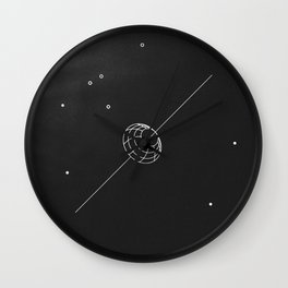 artificial body placed in orbit Wall Clock