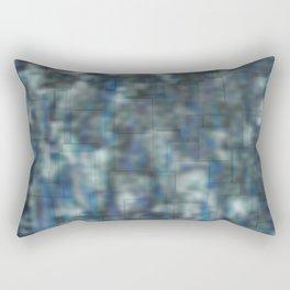 Abstract blue bluring pattern Rectangular Pillow
