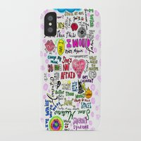 1d iPhone & iPod Cases featuring 1D songs  by drawbyana