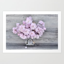 Pretty Prune Blossoms Art Print