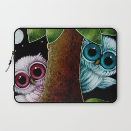 2 TINY OWLS BEHIND THE TREE PLAYING WITH YOU Laptop Sleeve