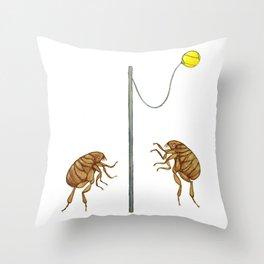 Teeny Tiny Tetherballers Throw Pillow