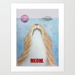 Meows. Art Print