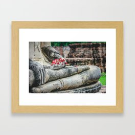Phuang Malai for the Buddha Framed Art Print